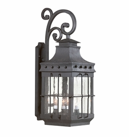 Troy Dover Exterior 4Lt Wall Lantern Candelabra with Natural Bronze Finish