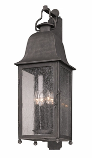 Troy Larchmont Exterior 1Lt Wall Lantern Fluorescent Gu-24 with Aged Pewter Finish
