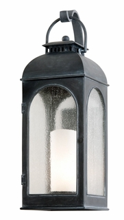 Troy Derby Exterior 1Lt Wall Lantern Fluorescent Gu-24 with Antique Iron Finish