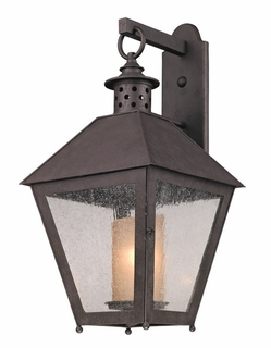 Troy Sagamore Exterior 1Lt Wall Lantern Fluorescent Gu-24 with Centennial Rust Finish