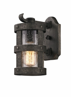 Troy Barbosa Exterior 1Lt Wall Lantern Fluorescent Gu-24 with Barbosa Bronze Finish