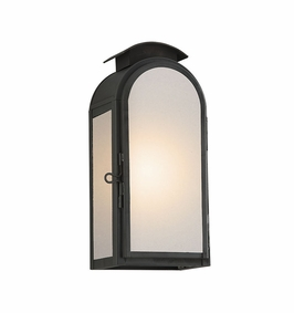 Troy Copley Square Exterior 1Lt Wall Lantern Small Gu24 with Charred Iron Finish