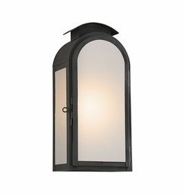 Troy Copley Square Exterior 1Lt Wall Lantern Medium Gu24 with Charred Iron Finish