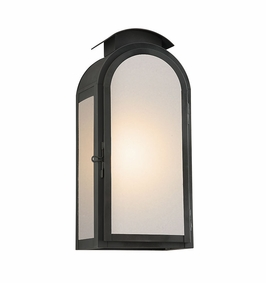 Troy Copley Square Exterior 1Lt Wall Lantern Large Gu24 with Charred Iron Finish
