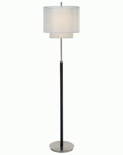 "BF7164 Trend ""Roosevelt"" Floor Lamp with Brushed Nickel/Expresso (DISCONTINUED PRODUCT)"