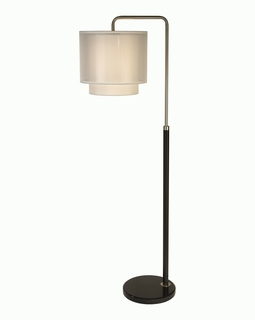 BF7169 Trend Roosevelt Downbridge Floor Lamp with Espresso/Brushed Nickel/ Sheer Snow (DISCONTINUED PRODUCT)