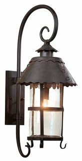 BF8325NB Troy Lighting Camelot 1 Light Wall Lantern Fluor in Natural Bronze Finish