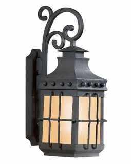 Troy Dover Exterior 1Lt Wall Lantern with Natural Bronze Finish