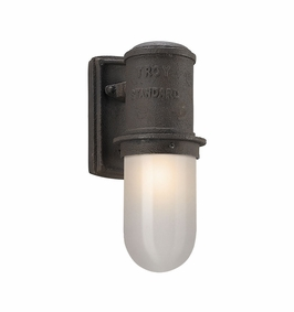 Troy Dock Street Exterior 1Lt Wall Lantern Small LED with Centennial Rust Finish