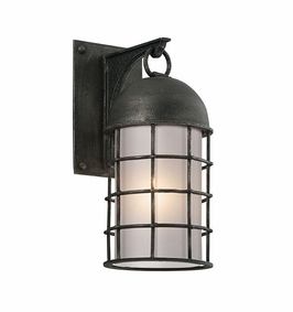 Troy Charlemagne Exterior 1Lt Wall Lantern Small LED with Aged Pewter Finish