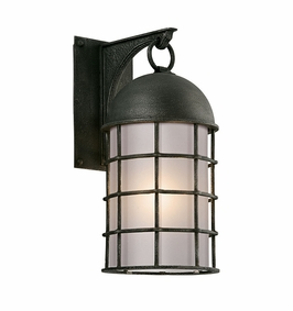 Troy Charlemagne Exterior 1Lt Wall Lantern Medium LED with Aged Pewter Finish