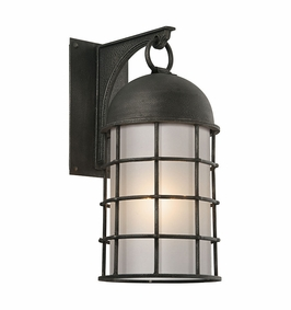 Troy Charlemagne Exterior 1Lt Wall Lantern Large LED with Aged Pewter Finish