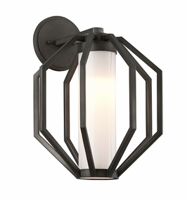 Troy Boundary Exterior 1Lt Wall Lantern Large LED with Textured Graphite Finish