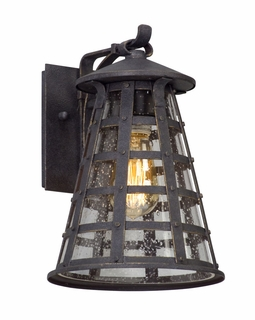 Troy Benjamin Exterior 1Lt Wall Lantern Small LED with Vintage Iron Finish