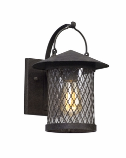 Troy Altamont Exterior 1Lt Wall Lantern Small LED with French Iron Finish
