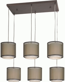BP7130 Trend Brella Chandelier with Sheer Smoke/ Antique Bronze Finish (DISCONTINUED PRODUCT)