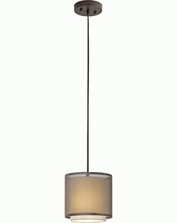 BP7136 Trend Brella Mini Pendant  with Sheer Smoke/ Antique Bronze Finish (DISCONTINUED PRODUCT)