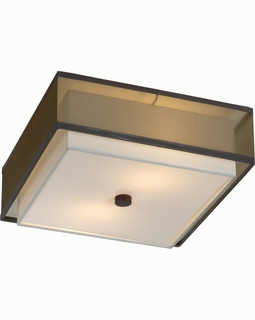 BP7438 Trend Brella Flushmount with Sheer Smoke/ Antique Bronze Finish (DISCONTINUED PRODUCT)