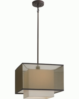 BP7439 Trend Brella Pendant with Sheer Smoke/ Antique Bronze Finish (DISCONTINUED PRODUCT)