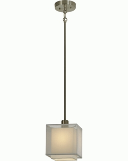 BP7456 Trend Brella Mini Pendant with Sheer Snow/ Brushed Nickel Finish (DISCONTINUED PRODUCT)