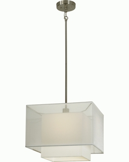 BP7459 Trend Brella Pendant with Sheer Snow/ Brushed Nickel Finish (DISCONTINUED PRODUCT)