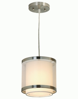 BP8943 Trend Lux Small Pendant with Brushed Nickel Finish (DISCONTINUED PRODUCT)