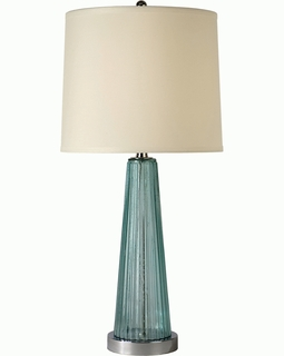 BT5763 Trend Chiara Table Lamp with Seafoam/ Polished Chrome (DISCONTINUED PRODUCT)