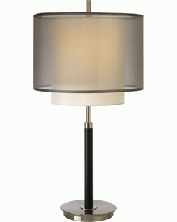 BT7132 Trend Roosevelt Table Lamp with Brushed Nickel/Expresso (DISCONTINUED PRODUCT)