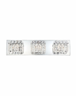 BV1003-0-15 Alico Crown (3) Light 40 Watt Vanity Light Fixture with Chrome Finish