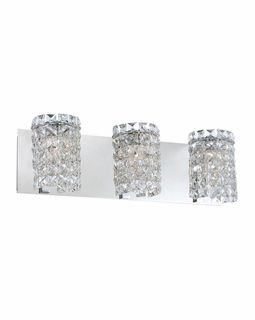 BV1303-0-15 Alico Queen  (3) Light 60 Watt Vanity Light Fixture with Chrome Finish