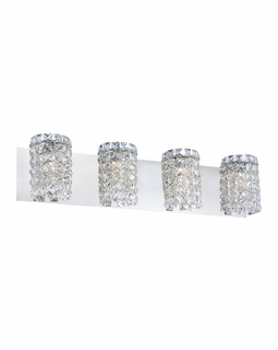 BV1304-0-15 Alico Queen  (4) Light 60 Watt Vanity Light Fixture with Chrome Finish