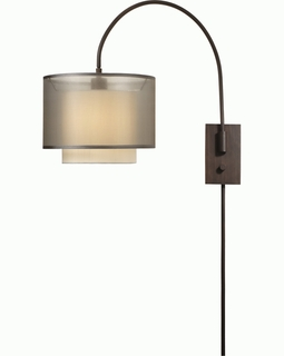 BW7135 Trend Brella Arc Wall Lamp with Sheer Smoke/ Antique Bronze Finish (DISCONTINUED PRODUCT)