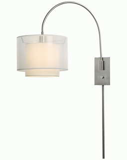 "BW7155 Trend ""Brella"" Small Arc Wall Lamp with Brushed Nickel (DISCONTINUED PRODUCT)"