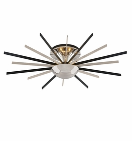 Troy Lighting Interior Modern Atomic 8Lt Ceiling Semi-Flush Small Polished Nickel W/ Matte Black