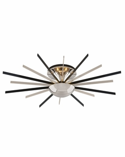 C4802 Troy Interior Atomic Small 8Lt 0 Ceiling Mount Pn/Mb in Polished Nickel With Matte Black Finish
