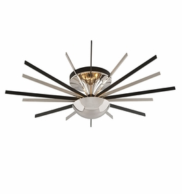 Troy Lighting Interior Modern Atomic 16Lt Ceiling Semi-Flush Medium Polished Nickel W/ Matte Black