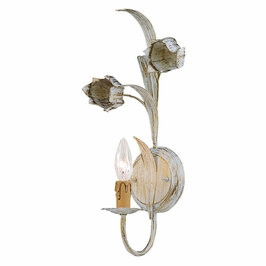 Crystorama Southport 1 Light Antique White Sconce