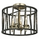 Troy Lighting Interior Classic Bastille 4Lt Ceiling Semi-Flush Pompeii Silver And Silver Leaf
