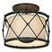 Troy Lighting Interior Rustic Palisade 3Lt Ceiling Semi-Flush Aged Pewter