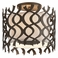 Troy Lighting Interior Natural Inspirations Mai Tai 3Lt Ceiling Semi-Flush Cottage Bronze