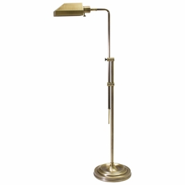 CH825-AB House of Troy Coach Adjustable Antique Brass Pharmacy Floor Lamp