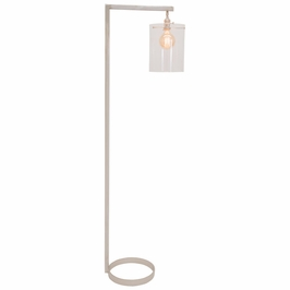 "D300-PN-G House of Troy 65"" Danby Floor Lamp in Polished Nickel with Glass Shade Option"