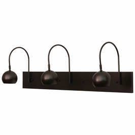 DHA36-MB House of Troy Direct Wire Halo triple shade LED picture light in mahogany bronze