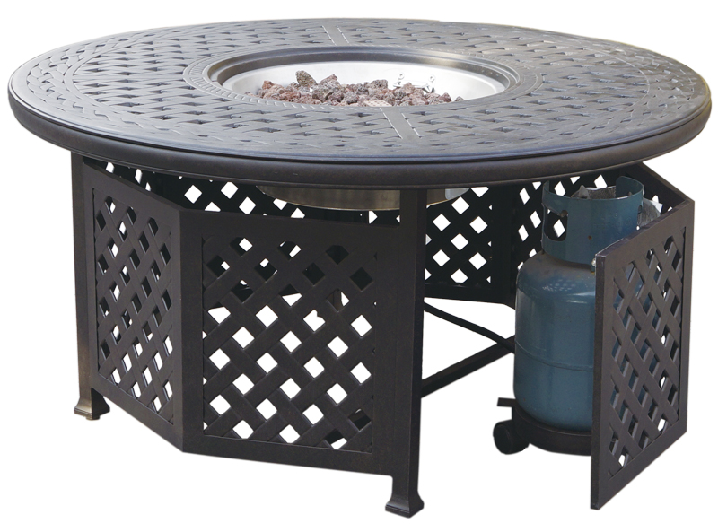 DLQB Darlee Classic Antique Bronze Inch Round Propane Fire - 48 inch round office table
