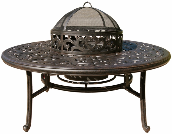 dl80 q b darlee 52 round tea height patio table with ice. Black Bedroom Furniture Sets. Home Design Ideas