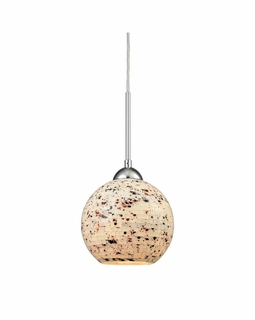 10741/1 ELK Lighting Spatter 1-Light Mini Pendant in Polished Chrome with Spatter Mosaic Glass