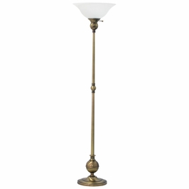 "E900-AB House of Troy Essex 69"" torchiere floor lamp in antique brass"