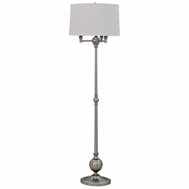 "E903-SN House of Troy Essex 63"" six-way floor lamp in satin nickel"