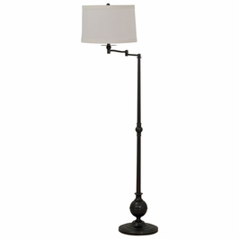 """E904-OB House of Troy Essex 61"""" swing arm floor lamp in oil rubbed bronze"""