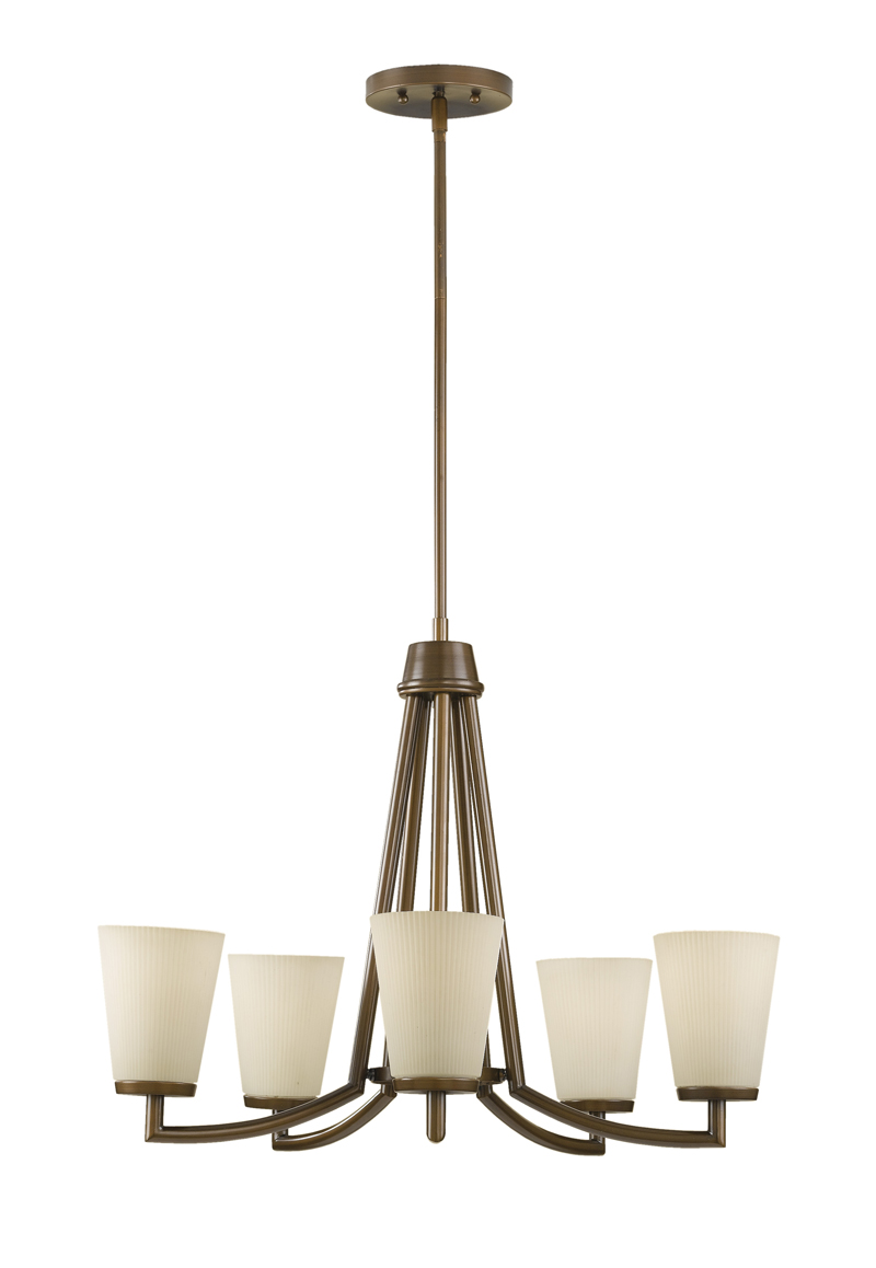 F2455 5htbz Murray Feiss Lighting Tribeca Collection 5 Light Chandelier With Heritage Bronze Finish